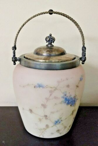 Mount Washington Hand-Painted Glass Biscuit Jar