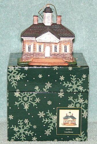 "Lang & Wise - Williamsburg - #0509015 - ""Courthouse"" - Tree Ornament, 2003, LNIB"