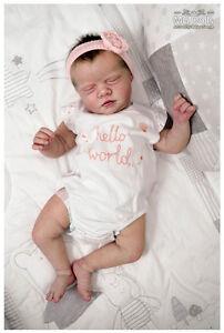 Reborn doll kit Realborn Ana Asleep Unpainted Kit  approx 19