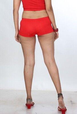 Gewagte Damen Booty Shorts Weiches Lycra-Shorts Mädchen-rot Hotpants Boxershorts ()