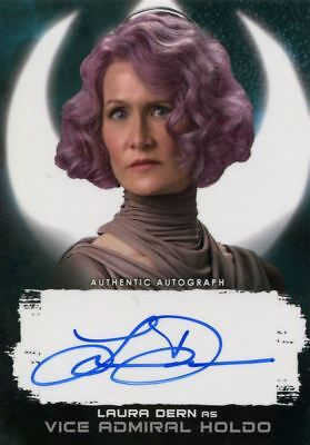 Star Wars Last Jedi S2 Black  1 1  Autograph Card Laura Dern As Vice Ad Holdo
