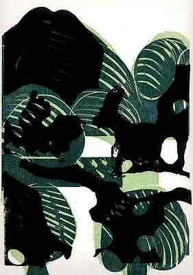 TRIOLOGIE der BUCHEN ( I - III ) HAP GRIESHABER 3 OriginalFarbHolzschnitte 1970
