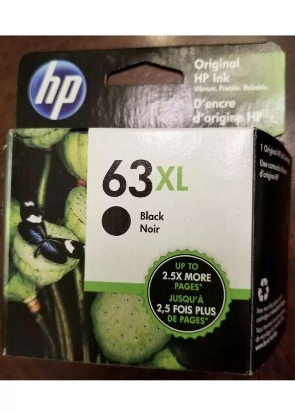 HP 63XL Black Ink Cartridge Genuine OEM FACTORY SEALED RETAIL BOX Exp 2021