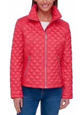 Marc New York Quilted Jacket - Marc New York Andrew Marc Women's Quilted Full Zip Jacket, Coral