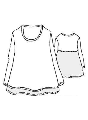 FLAX  Urban Pullover Tee L XL  NWOT  Cotton & Linen  WHITE