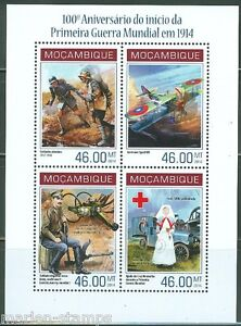 MOZAMBIQUE-2014-100th-ANNIVERSARY-OF-WORLD-WAR-I-RED-CROSS-SHEET-MINT-NH