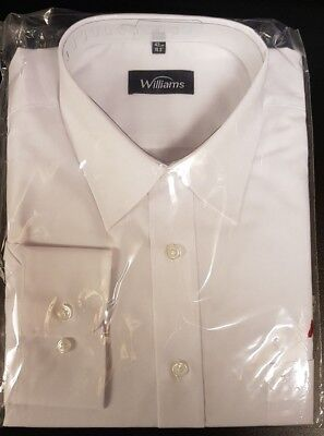 Bus driver uniform long sleeve white shirt size 16 and a half 42 cm
