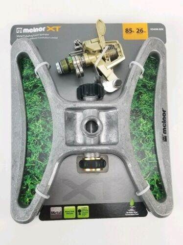 Melnor Impact Lawn Sprinkler Metal Head Wheeld Base Pulsatin