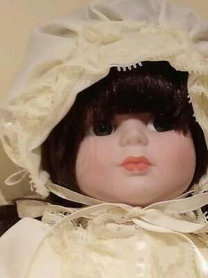 PORCELAIN BRIDE DOLL WITH THE LOOK OF THE ROARING TWENTIES-SHE STANDS 16 INCHES  - Roaring Twenties Look