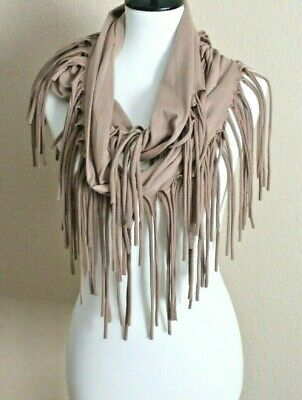 "Do Everything in Love Fringed Infinity Scarf, 67"" Long"