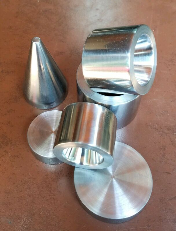 """3 Double Sided 17° Fold Over Reduction Dies 1.0"""" to 1.5"""" Coin Ring Tools"""