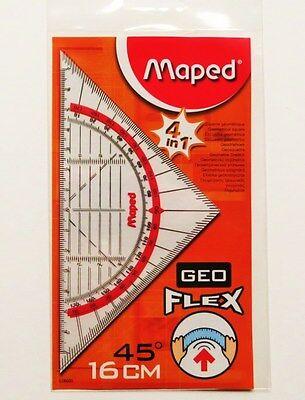 Maped Geo Flex Dreieck  Geodreieck flexibel  Geoflex - Dreieck Geometriedreieck