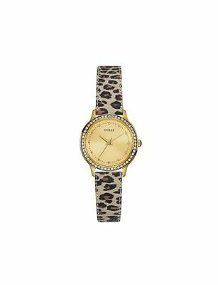 Guess Women's Chelsea Gold Coate Analog Quartz Dial Leather Strap Watch W0648L8