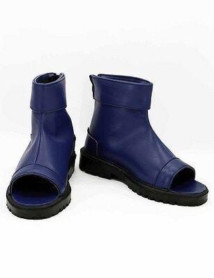 Uzumaki Naruto Uchiha Sasuke Shinobi ninja Cosplay Schuhe Kostüm Shoes Blau - Ninja Kostüm Schuhe