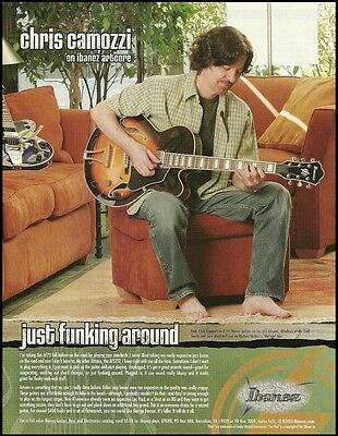 Ibanez Artcore AF75 guitar ad 8 x 11 advertisement 2003 Chris Camozzi ad print for sale  Shipping to Canada