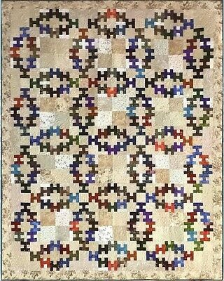 New Pieced Quilt Pattern  SUMMER WEDDING instructions for 4 Sizes