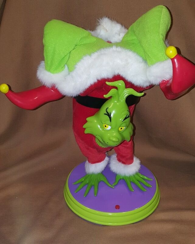 GEMMY 2000 DR SEUSS HAND-STAND SINGING DANCING Grinch Animated Christmas