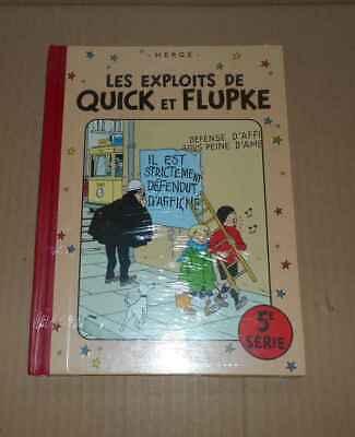 BD Hergé Exlpoits de Quick et Flupke 5e série RE sous cello