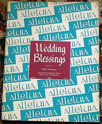 WEDDING MUSIC Blessings Sacred Solos Low Voice Edition Bridal Sheet Song Book