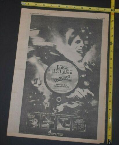 David Bowie Vintage 1973 Full Page Concert/Album Ad Radio City Music Hall NYC