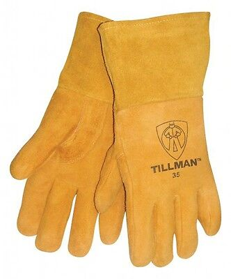 Tillman 35 Medium Mig Welding Gloves Heavyweight Golden Deerskin 4 Cuff 1pair