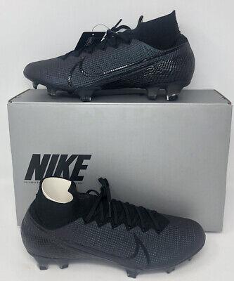 Nike Mercurial Superfly 7 Elite FG Black Soccer AQ4174-010 Men's Size 10