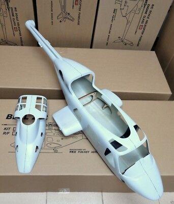 (FUNKEY - BELL 222 Scale Fuselage  46-50 SIZE   UNPAINTED   NEW IN BOX)