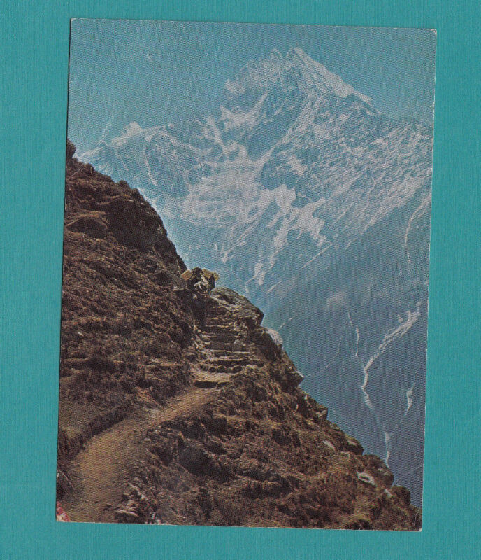 Nepal Treckking Route To Everest Side Vintage Postcard