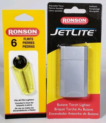 Ronson JetLite Refillable Butane Torch Lighter W/ Replacemen