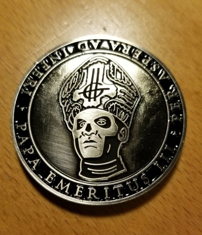 Ghost band Papa Emeritus III limited edition coin Popestar 2017 tour