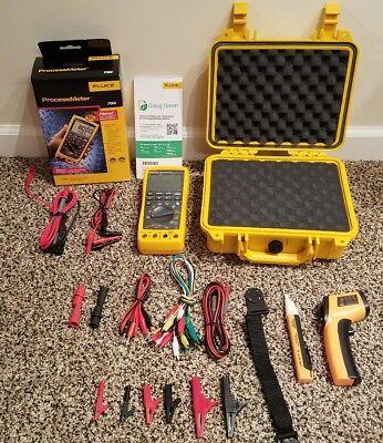 Fluke 789 Multimeter Brand New Hard Case Tpak Temp Gun Many New Access.