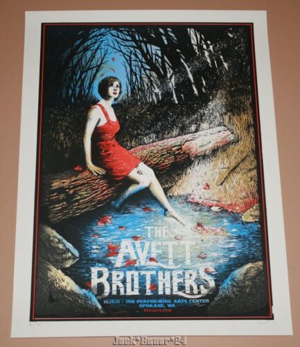 Zeb Love Avett Brothers Spokane Concert Poster Print Signed Numbered Art 2013 - $129.99