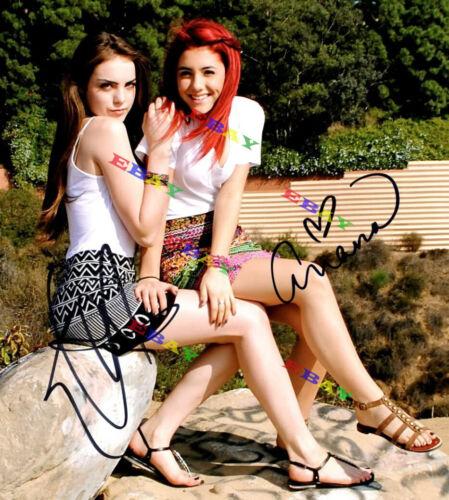Ariana Grande & Elizabeth Gillies  Autographed Signed 8x10 Photo Reprint
