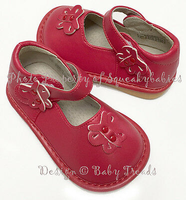Girls Squeaky Shoes Red ADD-A-BOW U-Choose Sz Wear Them Plain or w/Bow CLEARANCE](Clearance Girl Shoes)