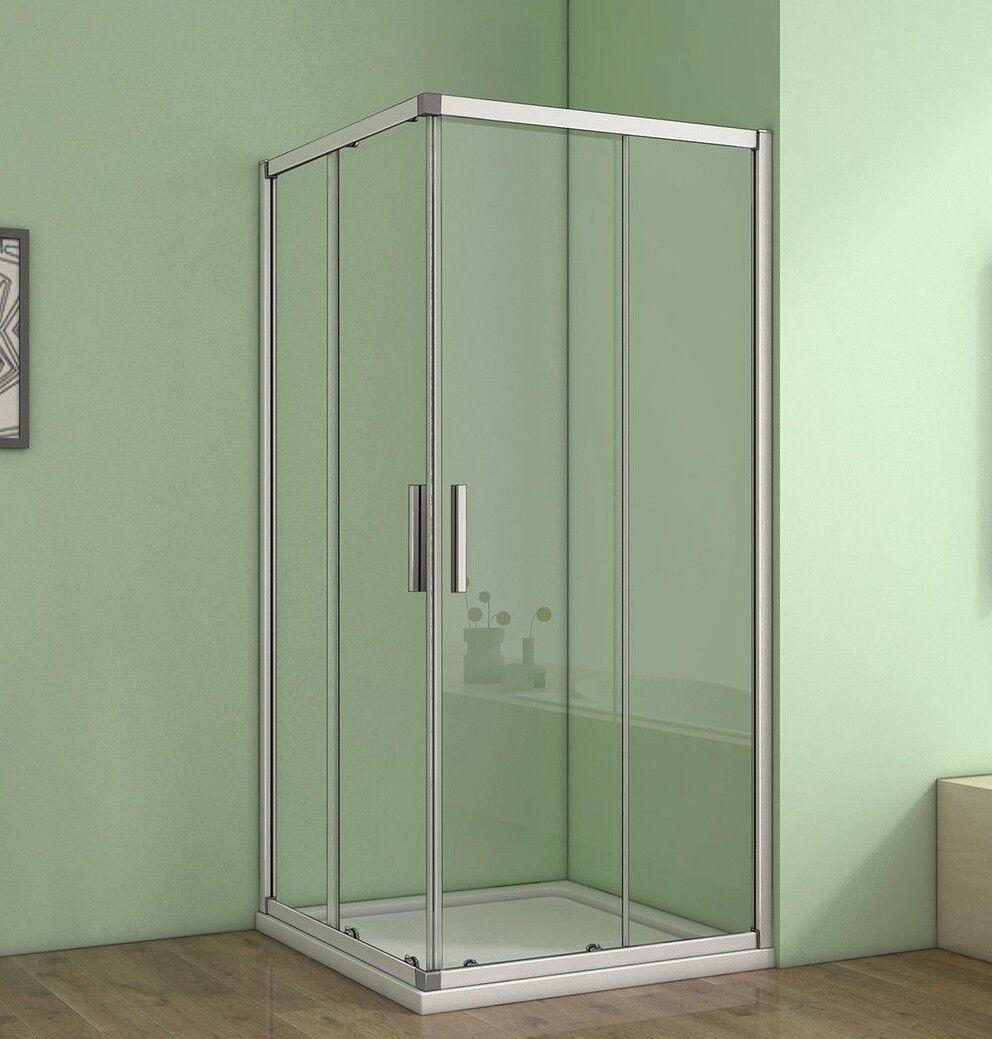 Duschkabine Duschabtreng Eckeinstieg Echtglas Glas Schiebetür Dusche Duschwand H