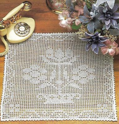 - Floral Filet Doily crochet PATTERN INSTRUCTIONS