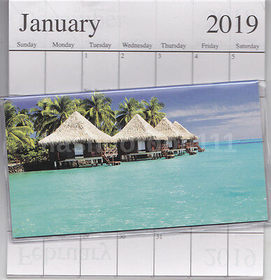 1 - 2018-2019 Tropical Beach 2 Two Year Planner Monthly Pocket Calendar Datebook