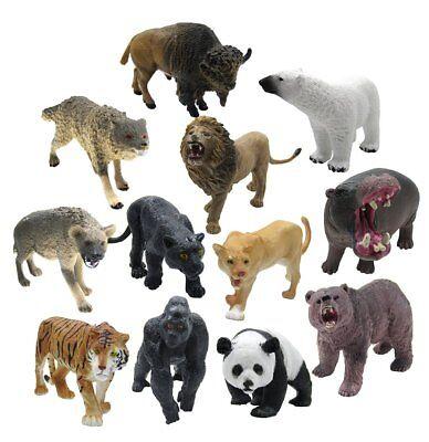 12 Piece Wildlife Animals Action Figure,Realistic Animals
