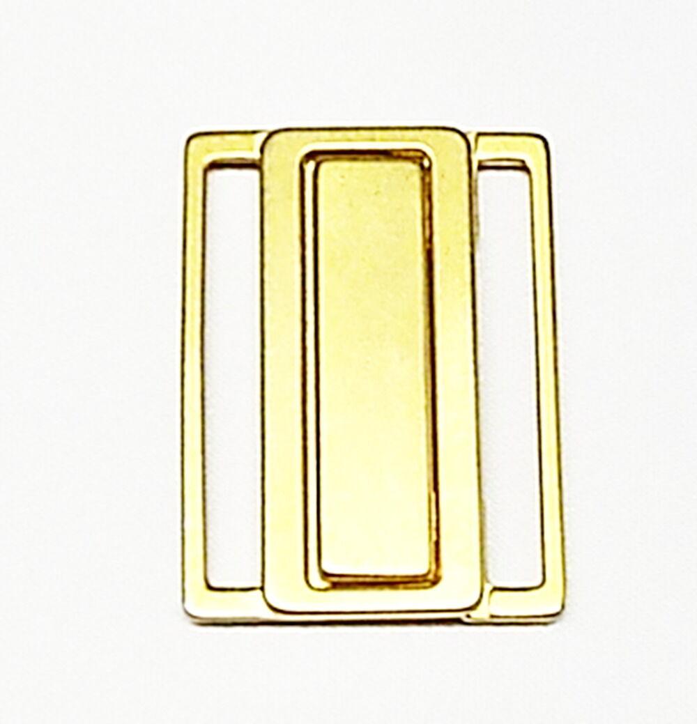 Bikiniverschluß Bikini Verschluß Metall 30 mm matt gold Verschluss nickelfrei