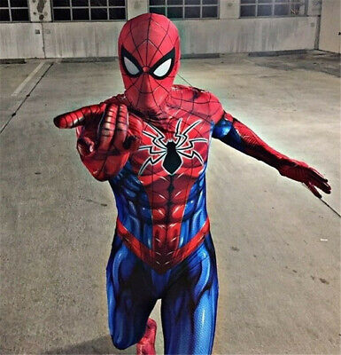 New Spiderman Costume 3D Printed Spandex Spider-Man Cosplay Suit For - Spandex Suit For Kids