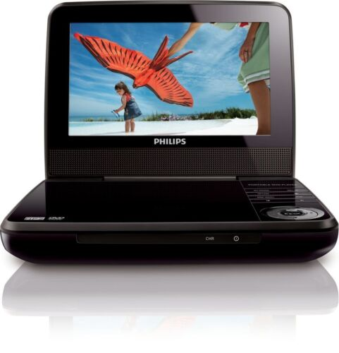 "Philips 7"" TFT-LCD Widescreen Portable DVD Player Black PET741M/37"