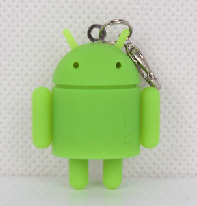 Rubber Robot Google Android Key Chain Mini Doll Green
