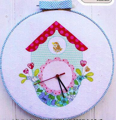 SALE - PATTERN - Cuckoo Clock - cute applique design MINI PATTERN
