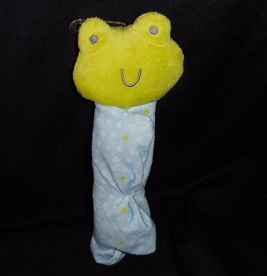 NEW CARTER'S PRECIOUS FIRSTS FROG RATTLE SECURITY BLANKET STUFFED ANIMAL PLUSH