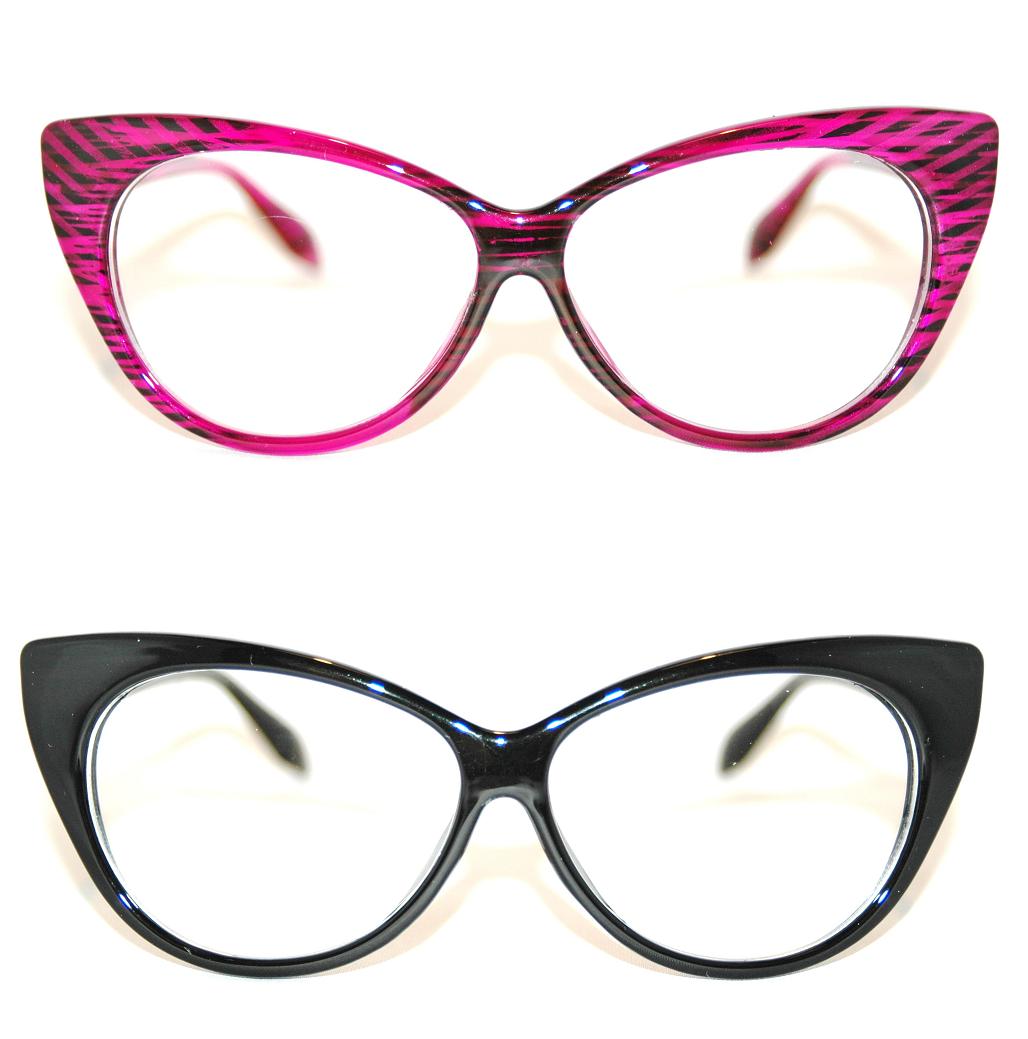 Brille Nerd Sekretärin Pinup Rockabilly 50er 60er Retro Schwarz Pink fab 113AB