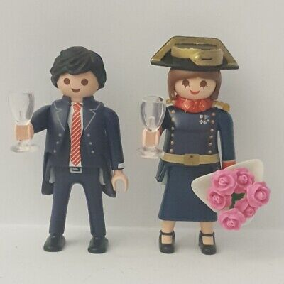 Custom Playmobil Pareja novios Guardia civil gran gala boda benemérita militar