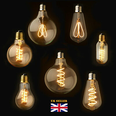 Dimmable  LED E27/B22 Retro Vintage Flexible Edison Spiral Filament Light Bulb