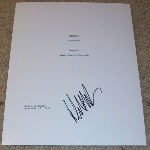 MATT LEBLANC SIGNED EPISODES FULL PILOT SCRIPT w/EXACT PROOF AUTOGRAPH FRIENDS