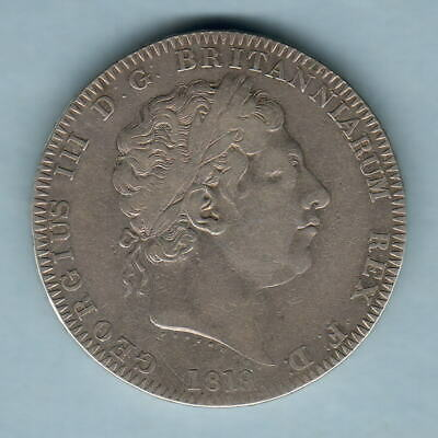 Great Britain. 1819 LIX - George 111 Crown.. Fine+ - Trace Lustre