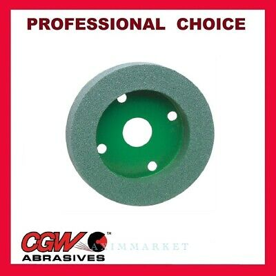 """Green Silicon Carbide Stone Grinding Cup 4/""""x2/"""" x 60 grit Zak"""